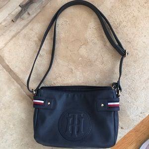 Tommy Hilfiger navy blue zip close purse